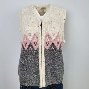 St. John's Bay Full Zip Knit Vest Size L